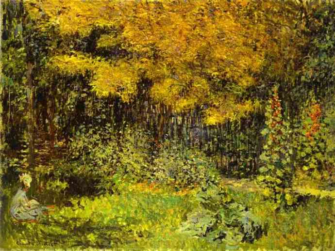 _Malv_Bardo_Claude Monet - The Garden-Malva-kr