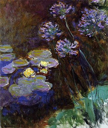 _agapanthus_monet-water-lilies-and-agapanthus1917