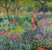 _Mone_Sad_Kart_ Monet's Garden, the Irises_Sin_IRISES_2