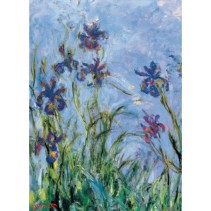 _Monet_Sad_Kart_ Monet's Garden, the Irises_Sin_IRISES_2
