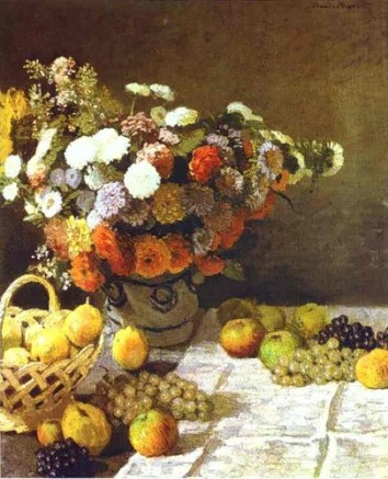 _Flowers and Fruits_Claude Monet - Flowers and Fruits
